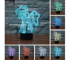 Beling 3D lampa, My Little Pony, 7 barevná S42