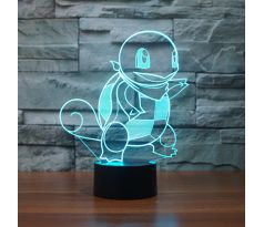 Beling 3D lampa, Squirtle, 7 barevná S220