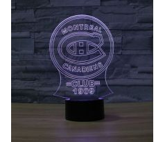Beling 3D lampa, Montreal Canadiens, 7 barevná S240