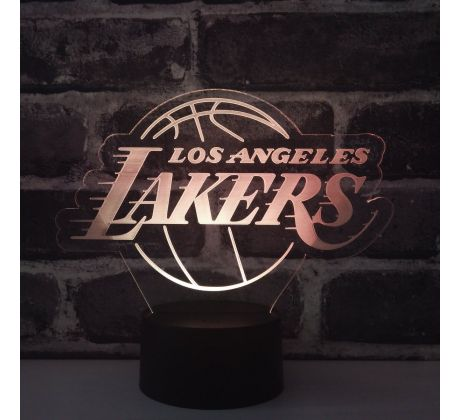 Beling 3D lampa, Los Angeles Lakers, 7 barevná S245